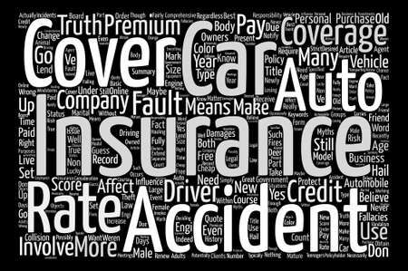 Auto Insurance Myths You Should Know About text background word cloud concept