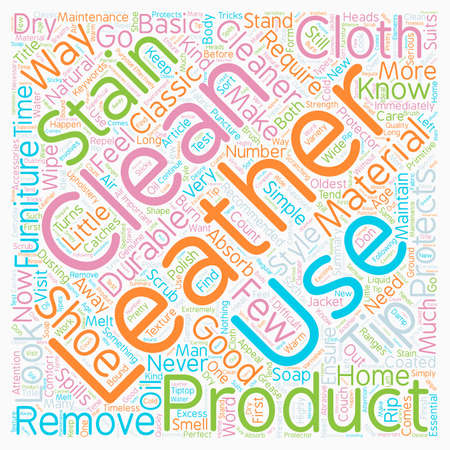 Look good in leather How to clean leather text background wordcloud concept Çizim