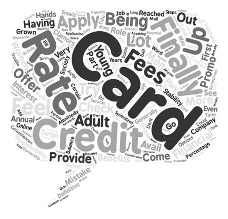conveniences: Apply For A Credit Card The Proper Way text background word cloud concept