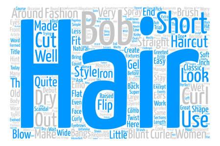Bobs And Short Haircuts Word Cloud Concept Text Background
