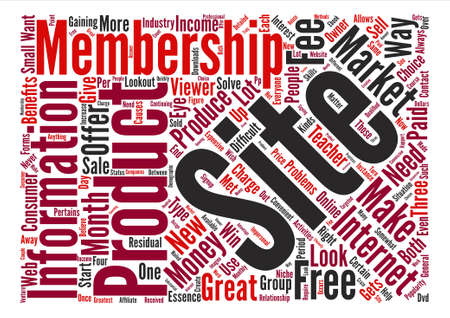 right choice: Are Membership Sites the Right Choice text background word cloud concept