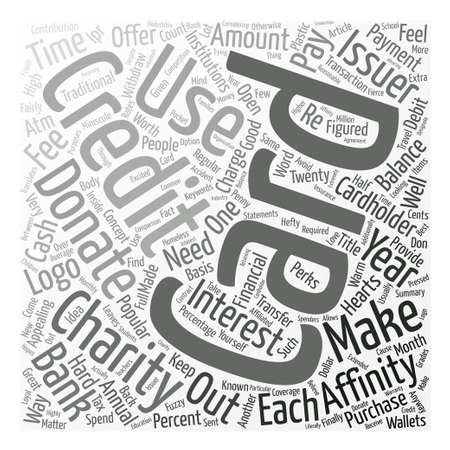 affinity: Affinity Credit Cards Word Cloud Concept Text Background