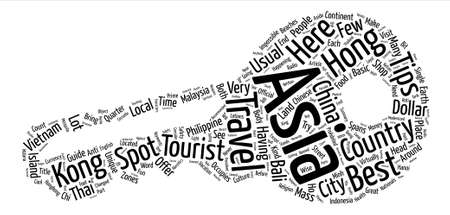 Asia Safety Travel Tips text background word cloud concept