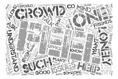 単語クラウド コンセプト テキスト背景この群衆の中に孤独であります。