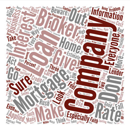 Bad Broker text background word cloud concept