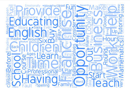 A Business Franchise For People Who Adore Children text background word cloud concept Illustration