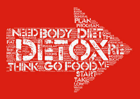body detox diet text background word cloud concept