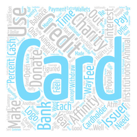 Affinity Credit Cards text background word cloud concept