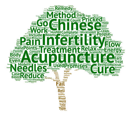 Acupuncture For Infertility Will It Work For You text background word cloud concept Illustration