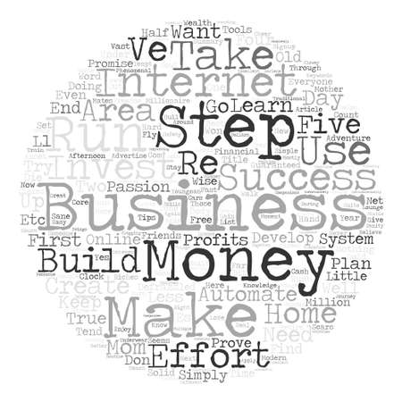 creating wealth: A Defrazzled Home Business Word Cloud Concept Text Background