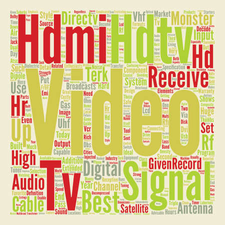 best hdtv text background word cloud concept