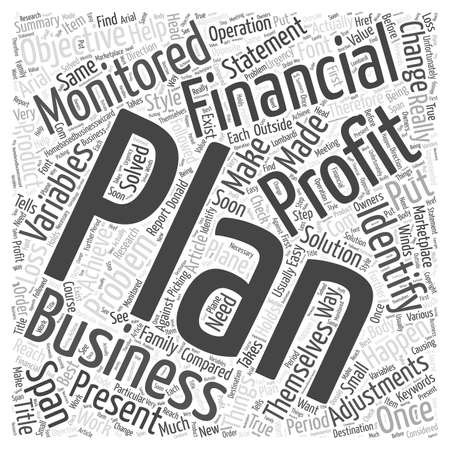 make summary: Make A Financial Plan And Work The Plan Word Cloud Concept Illustration