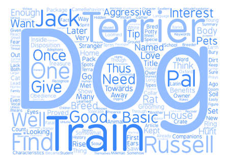 jack pack: A Dog in One Pack Jack Russell Terrier Word Cloud Concept Text Background