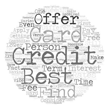 Best Credit Card Offer Is Still Possible Word Cloud Concept Text Background