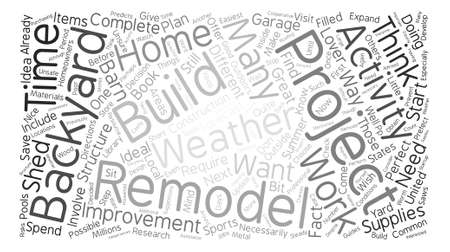 Backyard Activities for the Home Improvement Lover Word Cloud Concept Text Background
