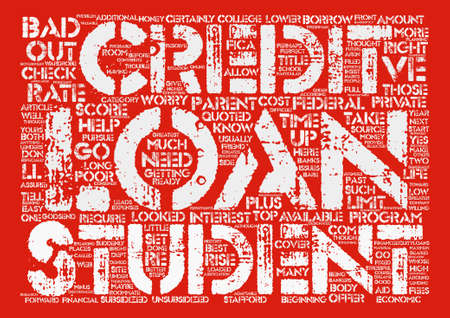 looked: Bad Credit Student Loan Can Be A Godsend Word Cloud Concept Text Background