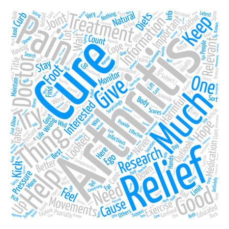 Arthritis Relief text background word cloud concept