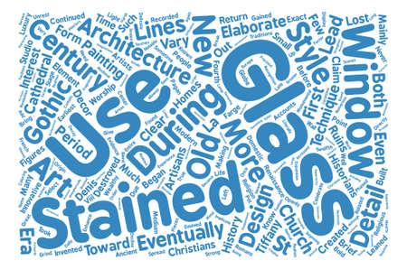 스테인드 글라스 텍스트 배경 단어 구름 개념의 간략한 역사