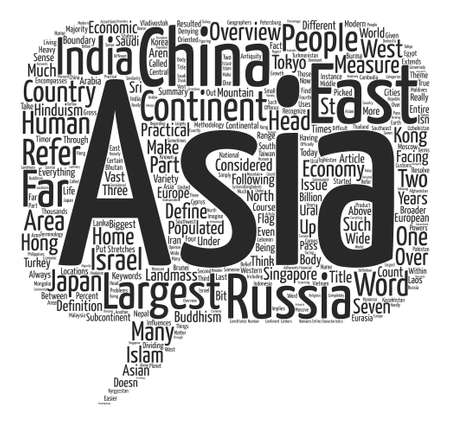measured: An Overview of Asia Word Cloud Concept Text Background Illustration