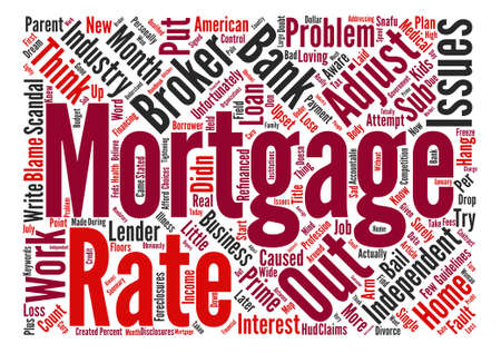 adjustable: Adjustable Rate Mortgage Snafu Word Cloud Concept Text Background