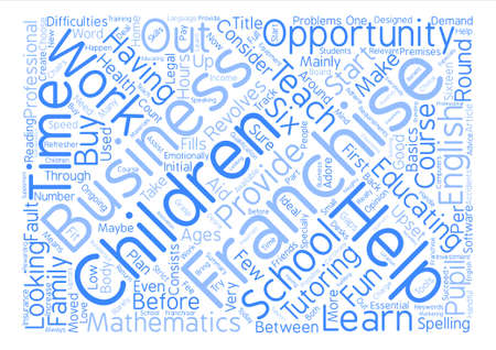 A Business Franchise For People Who Adore Children Word Cloud Concept Text Background