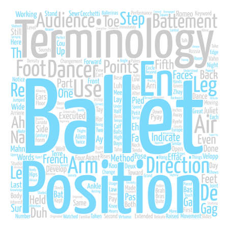immediately: Ballet Terminology text background word cloud concept