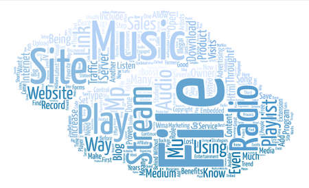 blog radio Word Cloud Concept Text Background