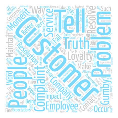 Better Ways to Handle Complaints Word Cloud Concept Text Background