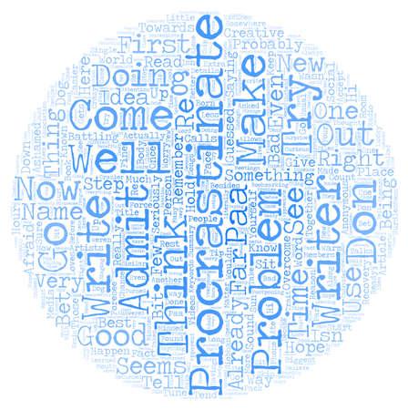 ashamed: Procrastinators Anonymous PAA text background wordcloud concept