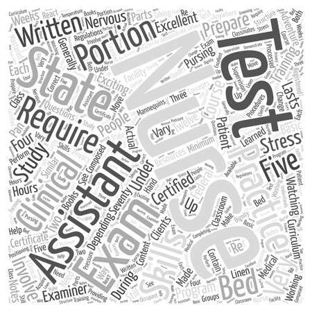 Prepare for the Certified Nursing Assistant Exam Word Cloud Concept