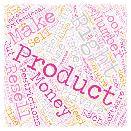 Private Label Resell Rights What You Need to Know text background wordcloud concept