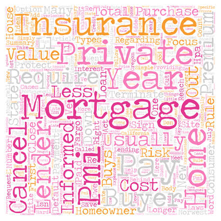 Private Mortgage Insurance Your Rights and Responsibilities text background wordcloud concept