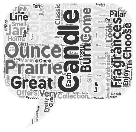 family owned: Prairie Candle Company 1 text background wordcloud concept