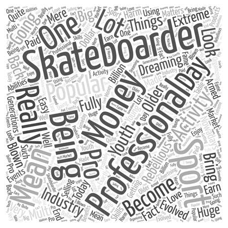 pro skateboarding Word Cloud Concept