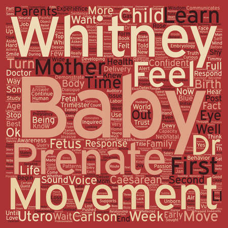 dewy: Prenatal Movement And Parental Response I Can Feel My Baby Move text background wordcloud concept