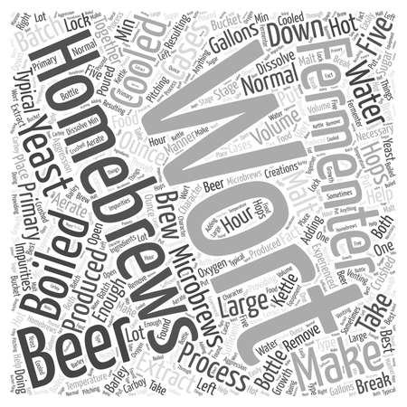 gallons: Process Of Homebrewing Microbrews Word Cloud Concept Illustration