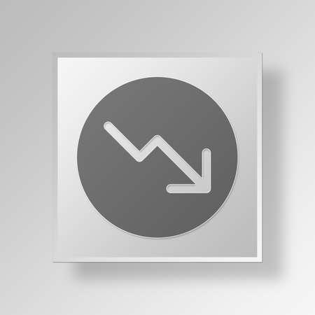 bar magnet: Bear Market Button Icon Concept No.11498