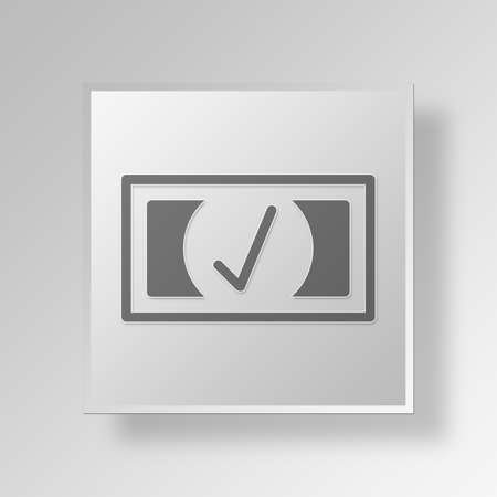 affirmation: bill Button Icon Concept No.14285 Stock Photo