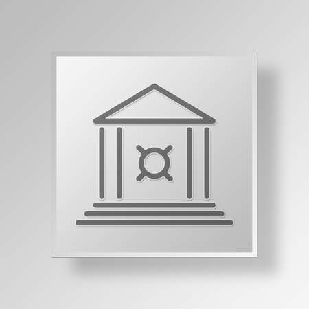 unspecified: Bank Button Icon Concept No.14223 Stock Photo
