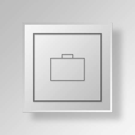 throb: Briefcase Button Icon Concept No.9051