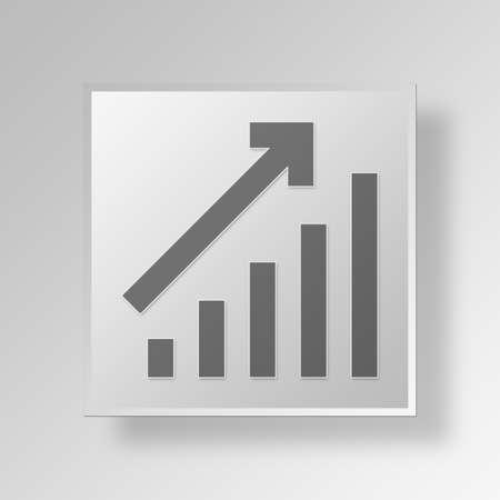 equate: bar chart Button Icon Concept No.11913 Stock Photo