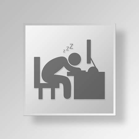 Passed out: boring Button Icon Concept No.12691