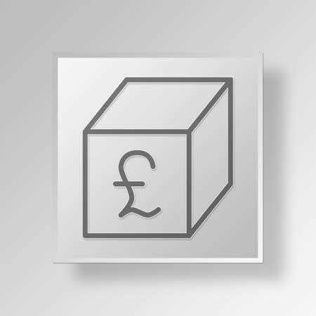 e commerce: Box Button Icon Concept No.13511 Stock Photo