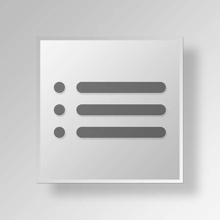 formatting: bullet list Button Icon Concept No.10496
