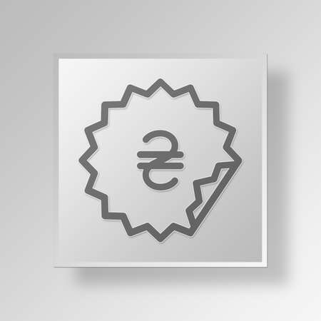 hallmark: sticker Button Icon Concept No.14344 Stock Photo