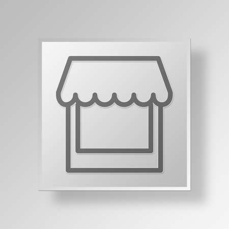 e commerce icon: Shop Button Icon Concept No.13318