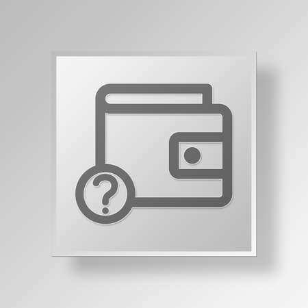 unknown wallet Button Icon Concept No.5127 Stock Photo