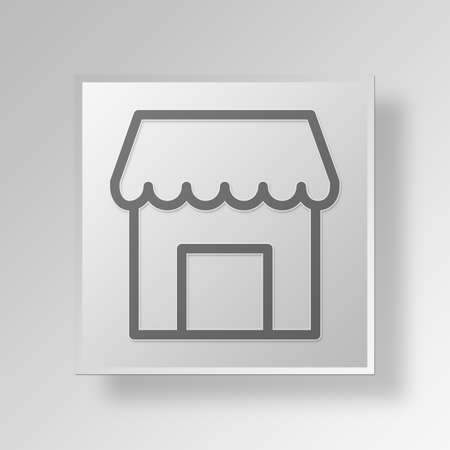 e commerce icon: Shop Button Icon Concept No.13320