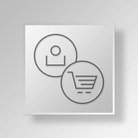 errands: shopper Button Icon Concept No.14022