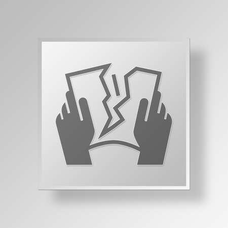 sever: tearing Button Icon Concept No.14167